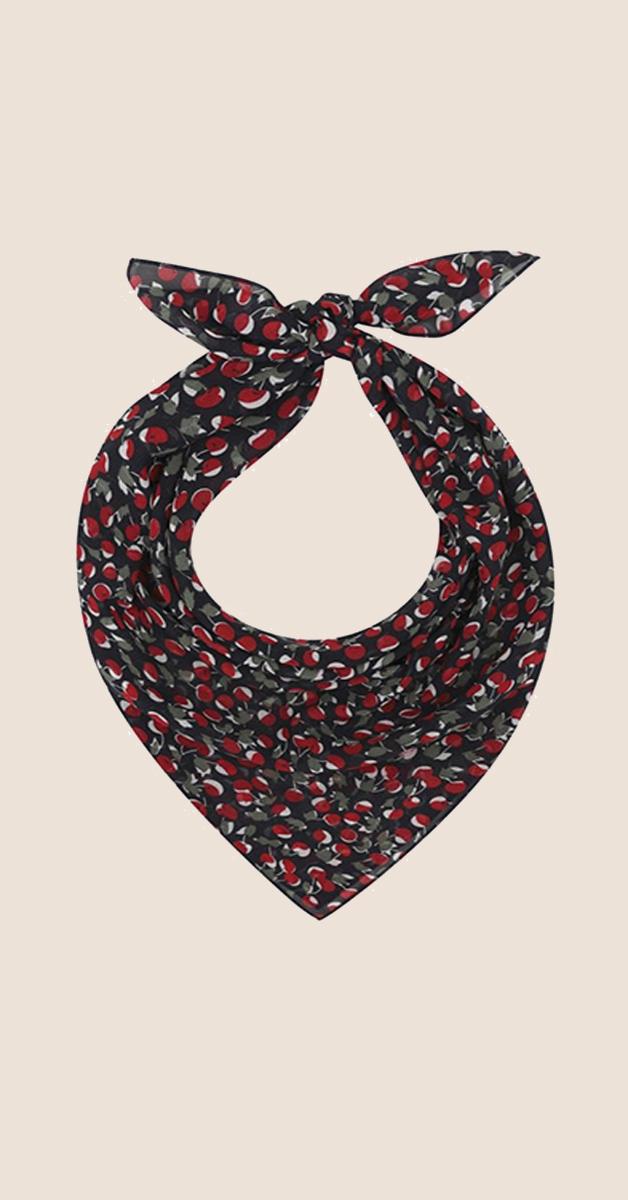Vintage Accessoire- Headcloth-Cherries Field