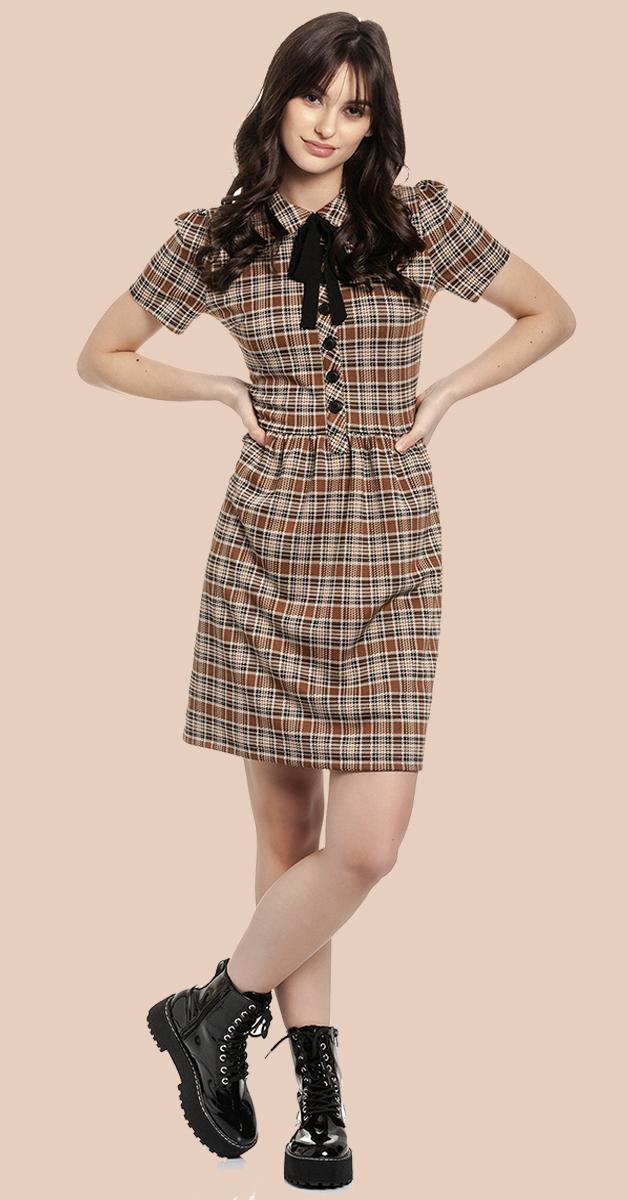 Retro Kleid Preppy Afternoon allover