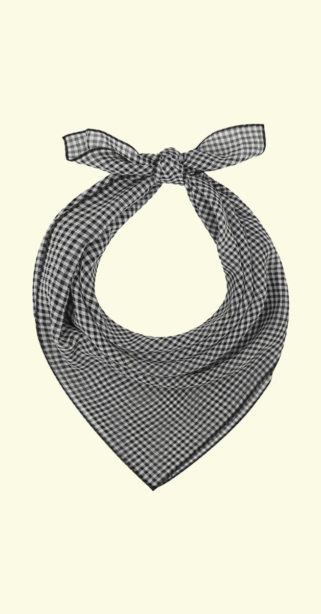 Vintage Accessoire Haarband Zoe Gingham in schwarz