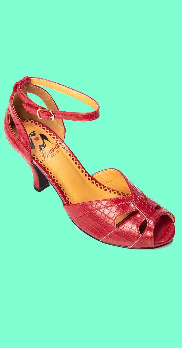 Retro Schuhe - Indiscreet - Rot