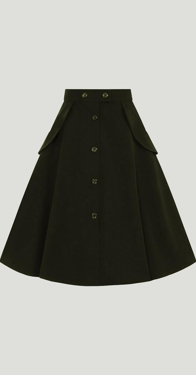 Vintage Mode -Tellerrock - Carlie Skirt - Schwarz