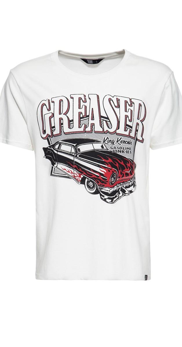 Rockabilly Mode - T-Shirt - Gasoline junkies - Weiß
