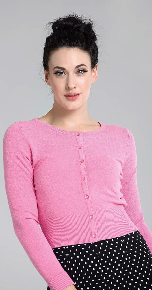 Vintage Stil Weste - Paloma Cardigan - Pink