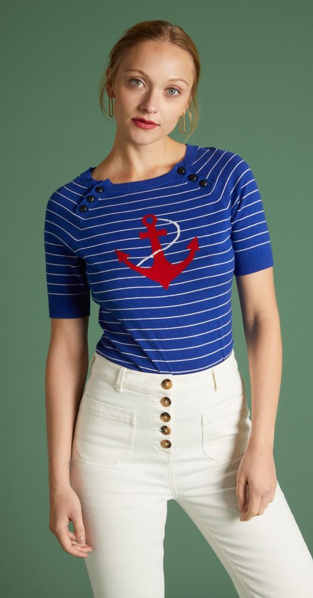 Retro Stil Bekleidung - Sailor Top Capitano