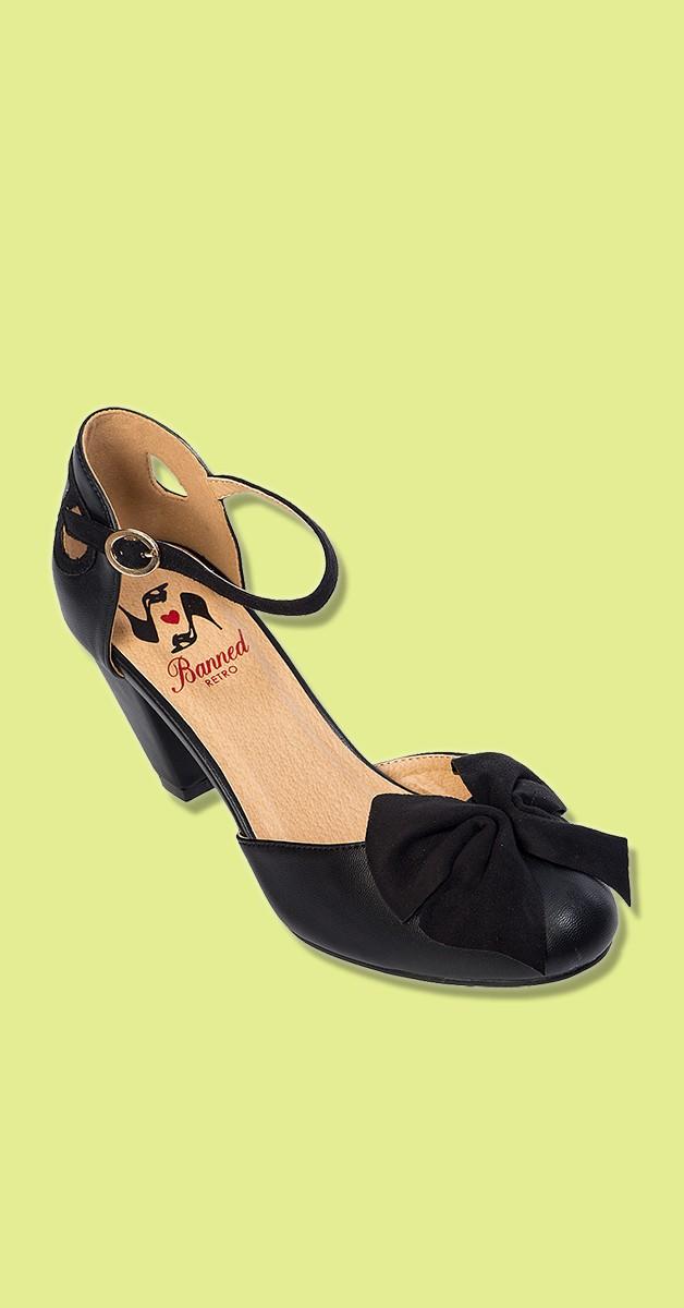 Vintage Stil Schuhe - 50s Into the Wild Pumps in Schwarz
