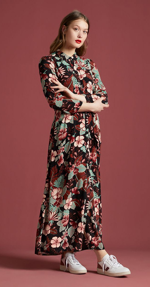 Retro Stil Mode- Kleid - Rosie Dress Maxi Lilo