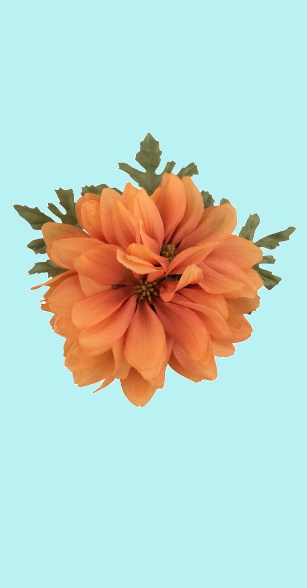 Vintage Accessoires - Haarblume - Claire - Orange
