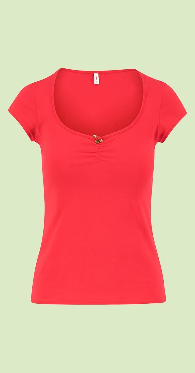 Vintage Stil Bekleidung - Logo Shortsleeve Feminine - Rot