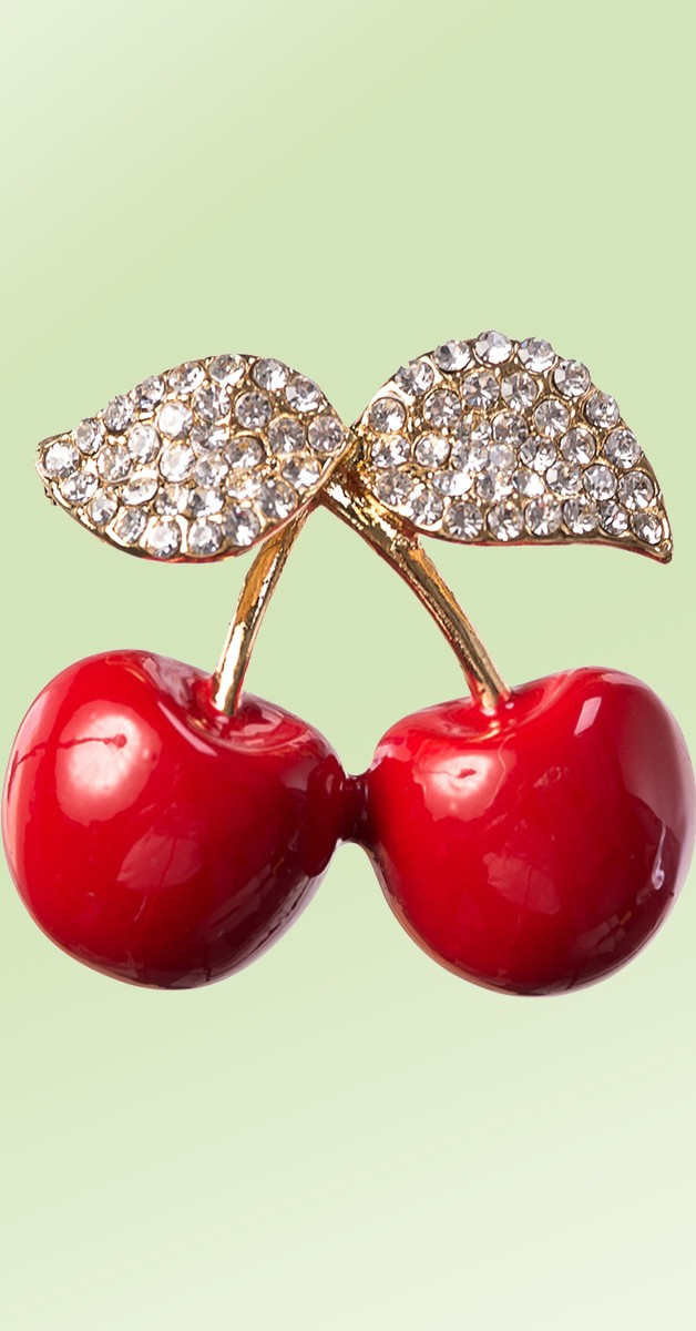Vintage Schmuck - Brosche - Cherry Picking Brooch