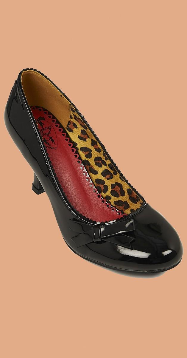 Vintage Stil Schuhe - Dragonfly - High Heel - Schwarz
