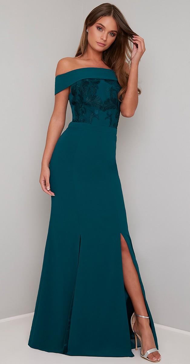 Vintage Stil Kleid - Fenella - Petrol