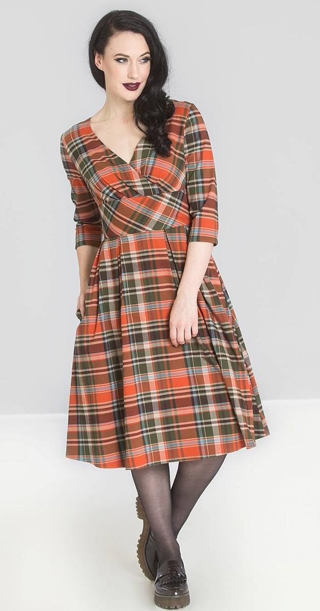 Vintage Stil Kleid - Oktober 50's Dress - Orange