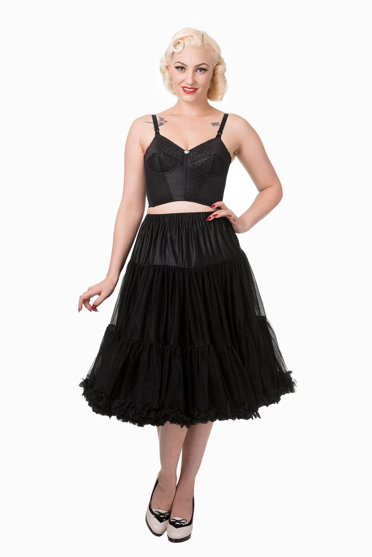 50s Style Swing Rockabilly Dance Petticoat - Schwarz