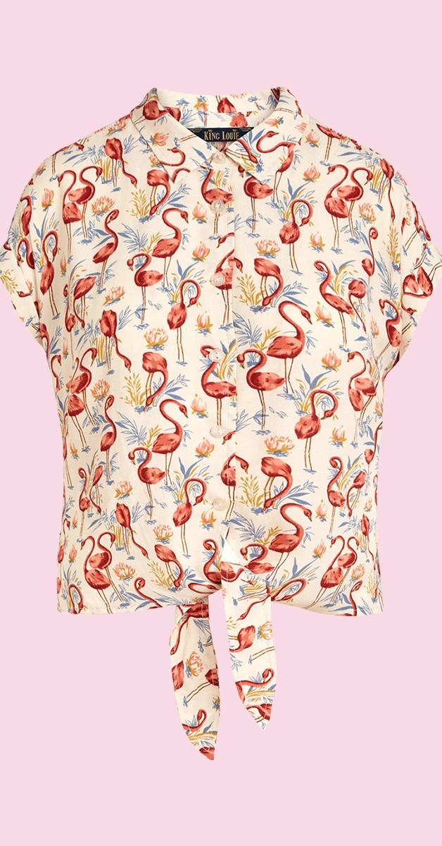 Vintage Stil 60's Mode - Knot Blouse Sonny