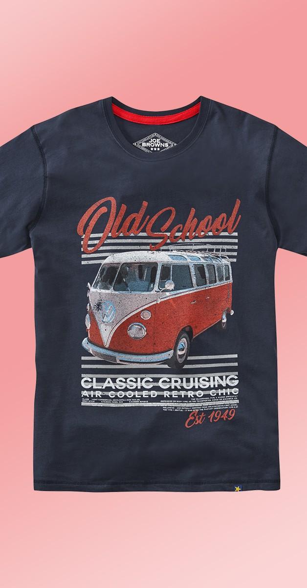 Rockabilly Kleidung - VW Old School T-Shirt - Navy