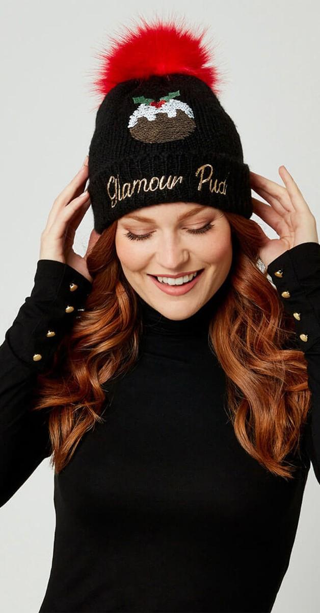 Vintage Accessoires - Strickmütze - Glamour Pud Knitted Hat