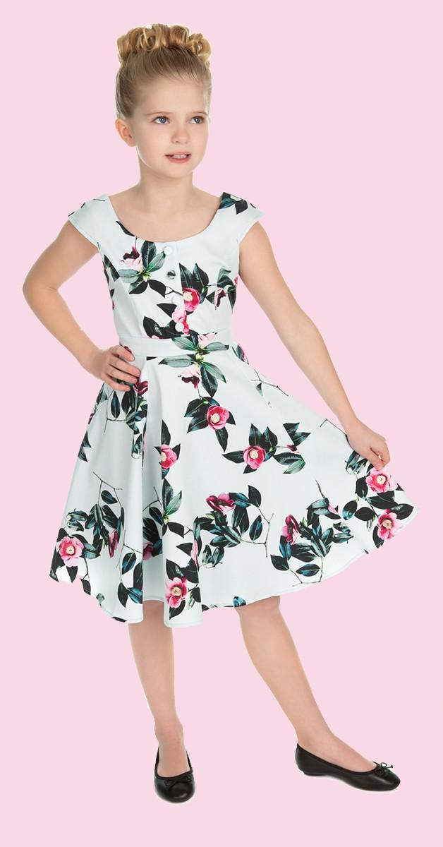 50s Kinderkleidung - Kleid - Mademoiselle Swing Dress - Blau