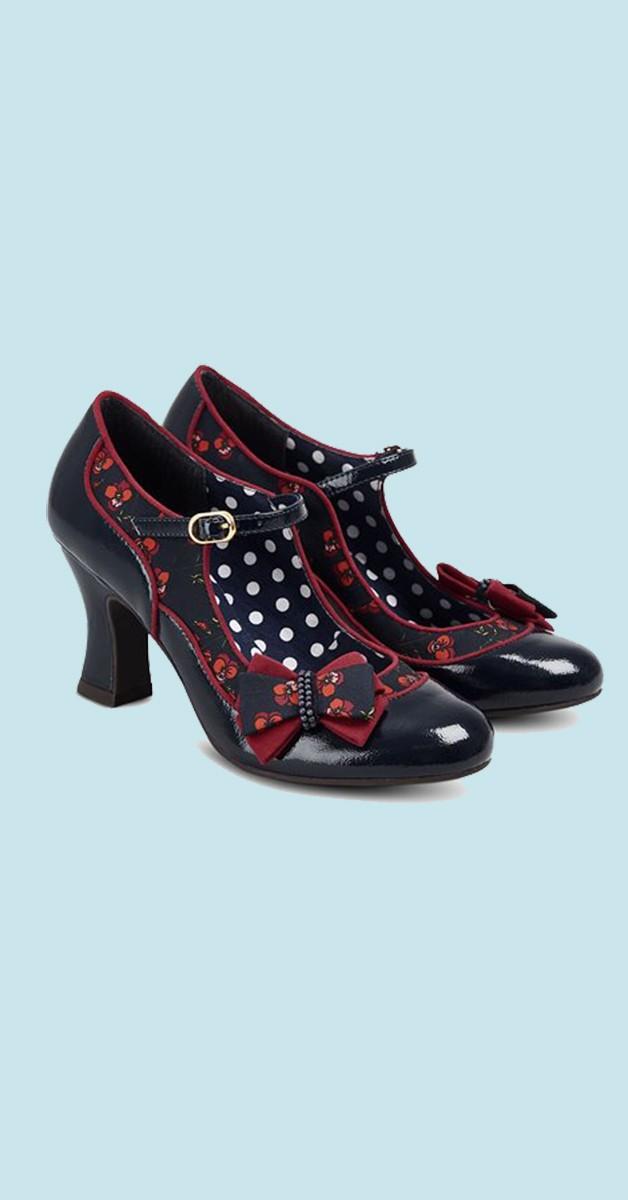 Vintage Stil Schuhe - Camilla - Navy