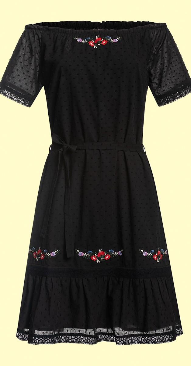Retro Stil Mode- Kleid - Vive Maria Boho Black Dream Damen Blusenkleid