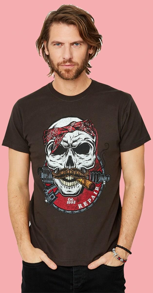 Rockabilly Kleidung - No Way Back T-Shirt - Schwarz