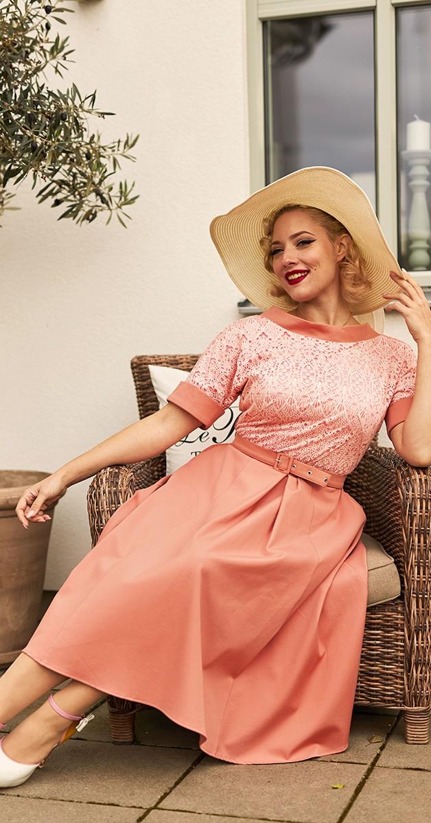 Vintage Swing Kleid - Pamy-Rouge 50's Dress - Altrosa