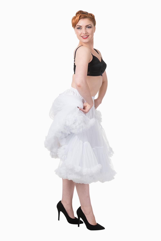 50s Style Swing Rockabilly Dance Petticoat - Weiß