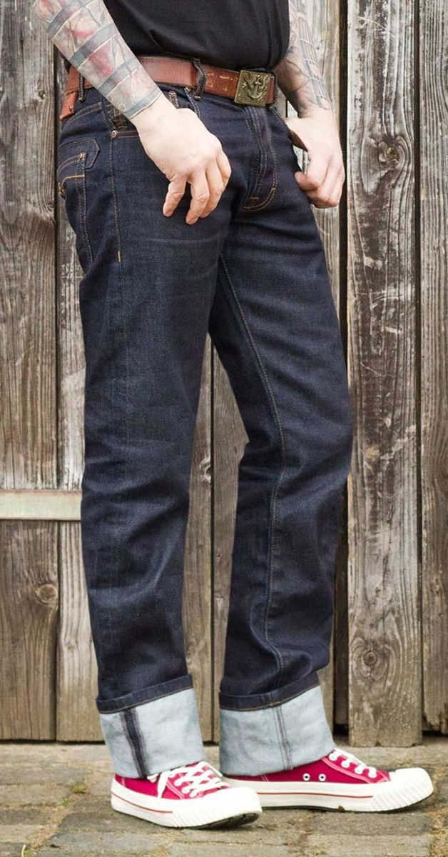 Vintage Jeans - Raw Denim - Blue Burning Blacktop