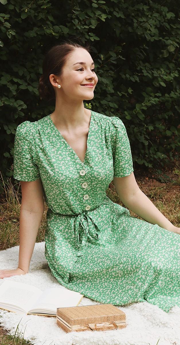 Vintage  Mode - 50s Kleid -   Magnolia