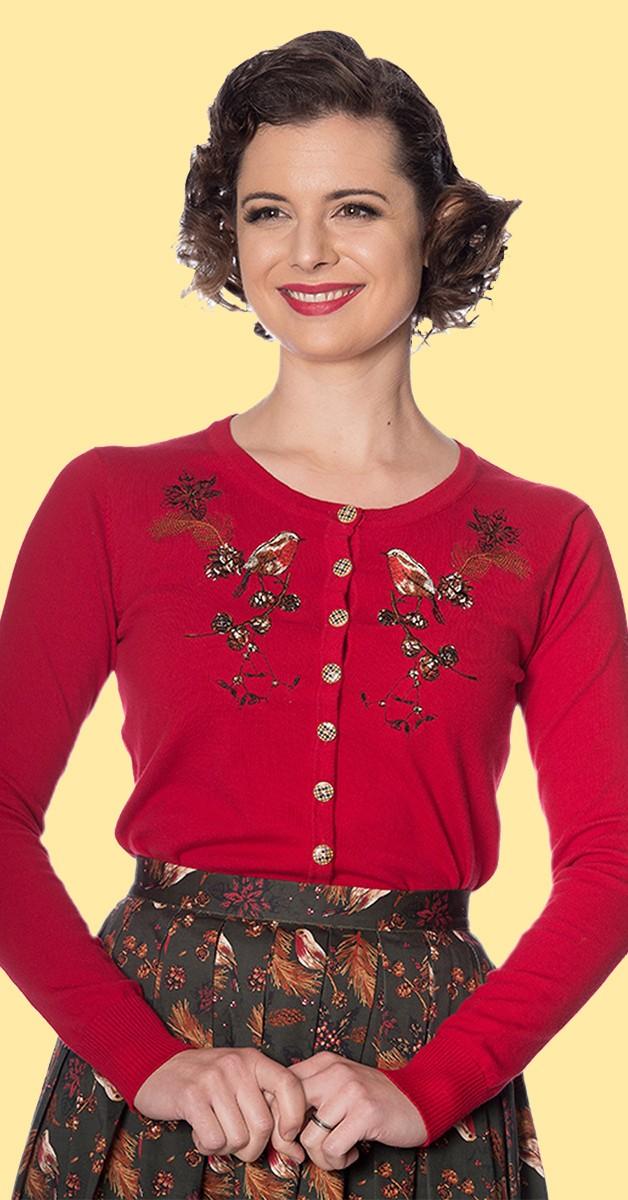 Vintage Stil Bekleidung Weste - Rockin Robin Cardigan