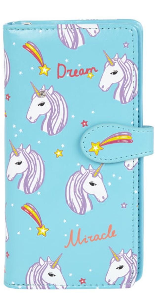 Vintage Accessoires - Brieftasche - Unicorns Blau