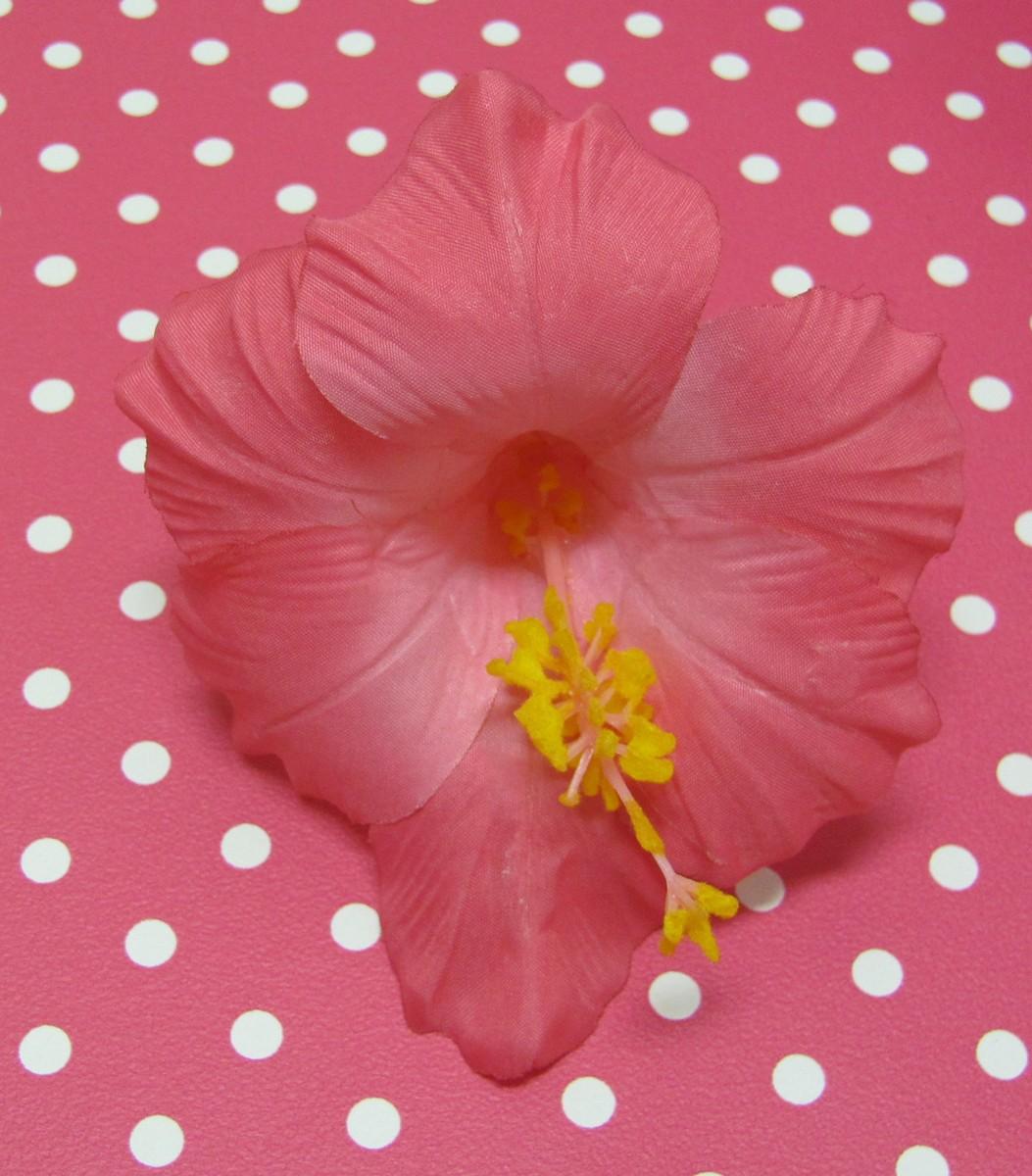 Rockabilly Accessoires - Haarclip- Hibiscus - Pink