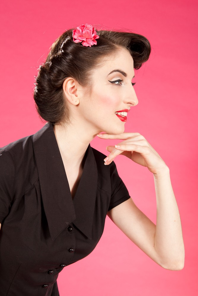 Pin Up Vintage Accessoires - Haarclip - Rose
