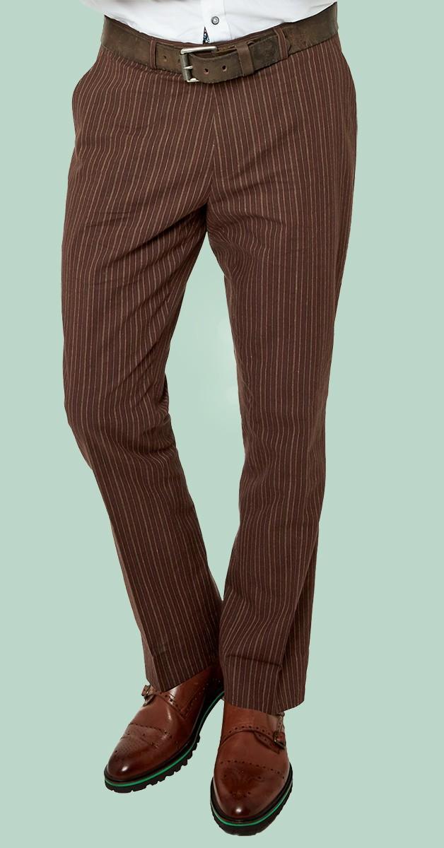 Vintage Bekleidung - Sensational Stripe Trousers - Braun Gestreift