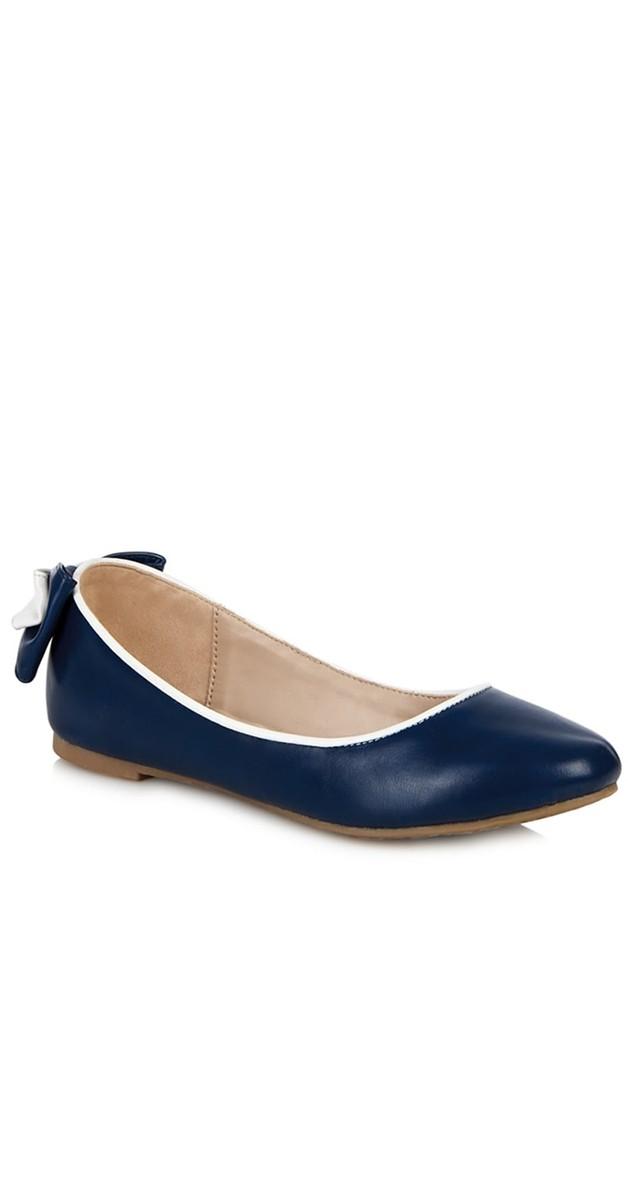 Retro Stil Schuhe - Ballerinas - Giusi - Navy