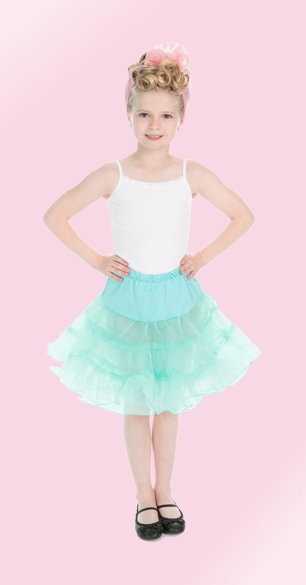 50s Bekleidung für Kids - Petticoat - Mintgrün