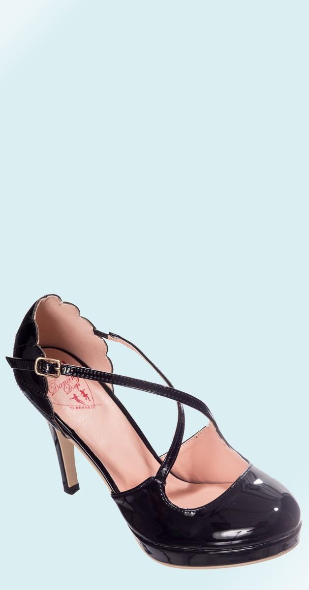 Vintage Stil Schuhe - Riverside Rae Pumps - Schwarz