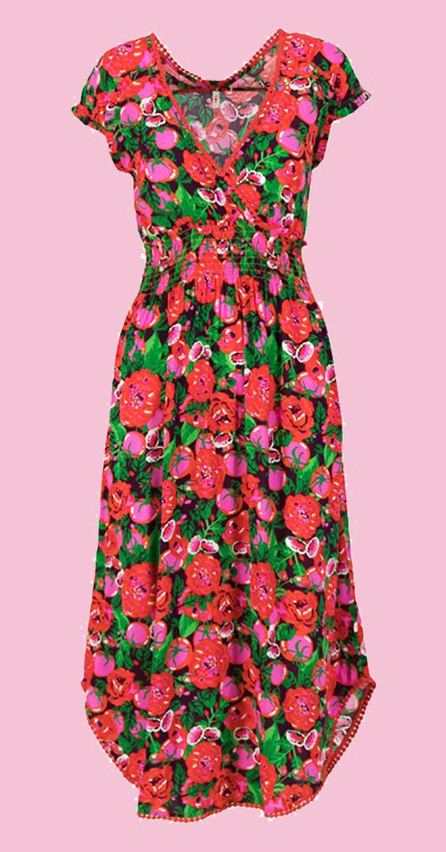 Retro Stil Mode - Sommerkleid sunflowers field - Hot House