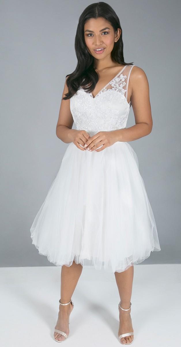 Vintage Stil Brautkleid - Fabia Dress - Elfenbeinfarben