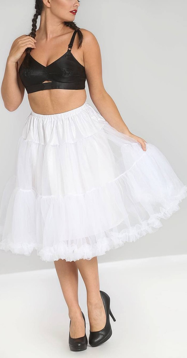 Polly Petticoat - Weiß - 65cm Lang