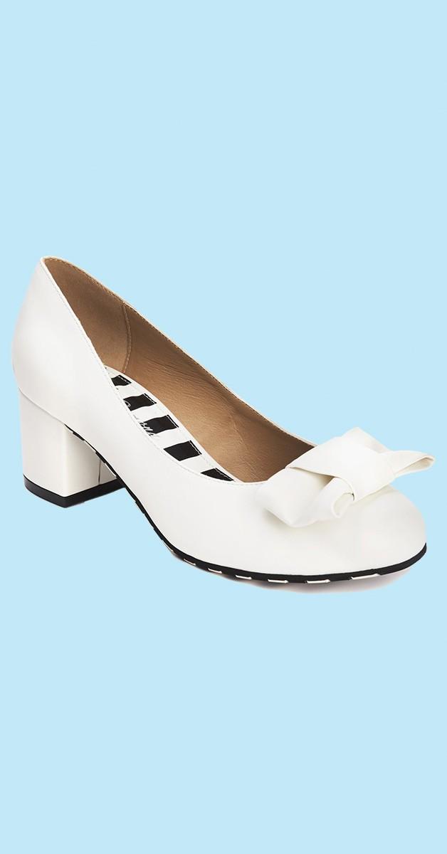 Vintage Stil Schuhe - Eve Fair - Cremeweiß