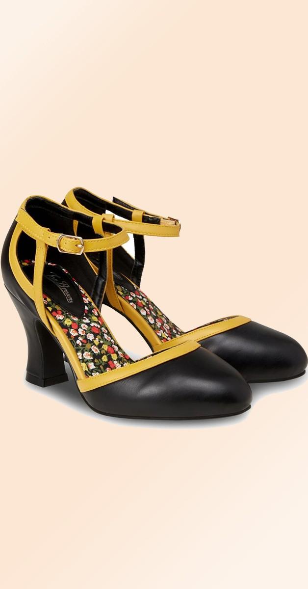 Vintage Stil Schuhe - Dainty And Different - Schwarz