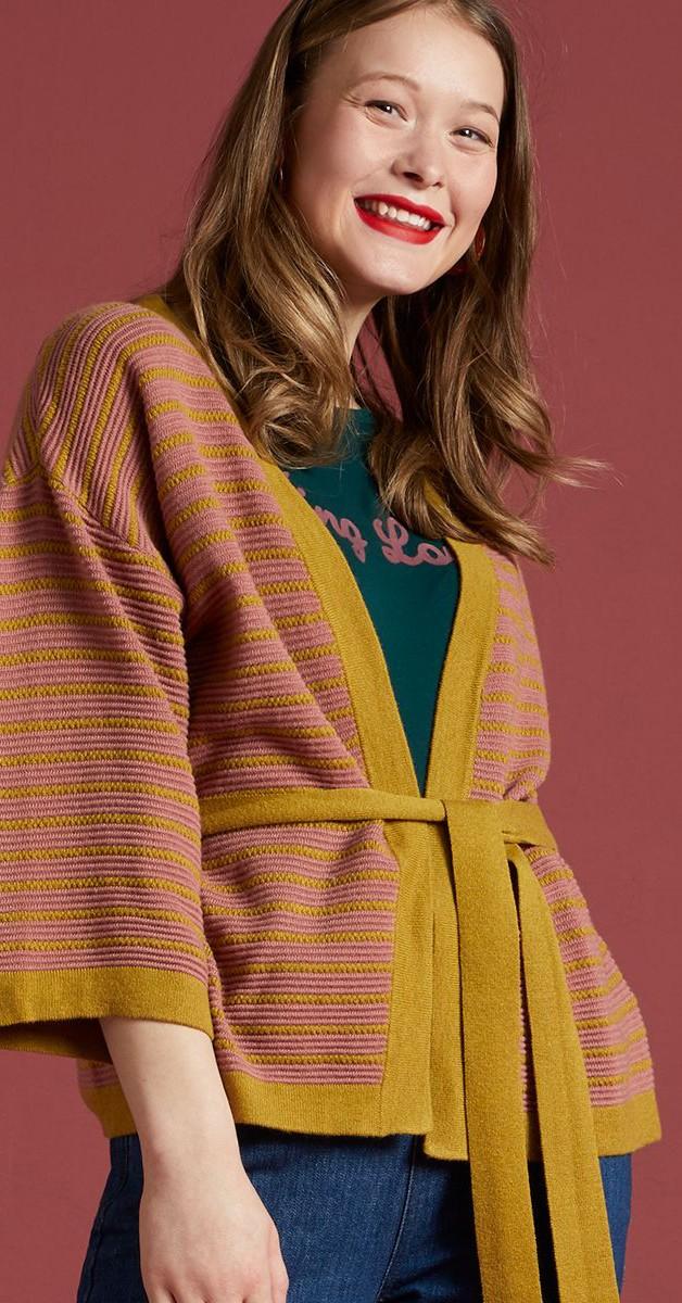 Vintage  Bekleidung - Kimono Cardi Dizzy