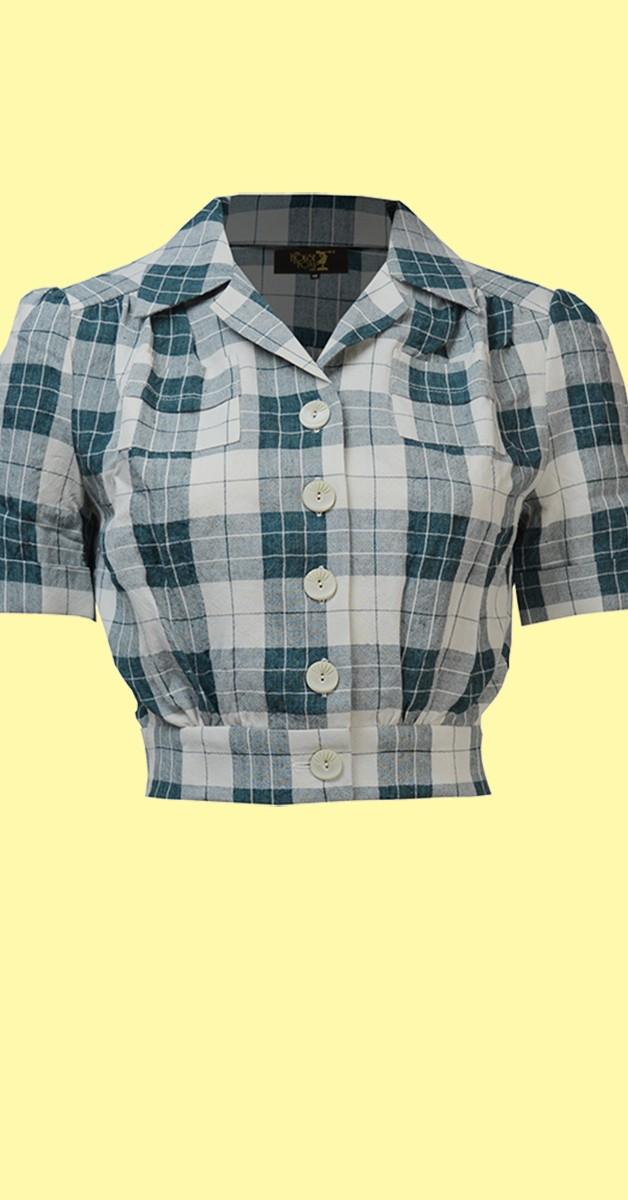 Vintage Stil Bekleidung - Land Girl Bluse im 40er Stil