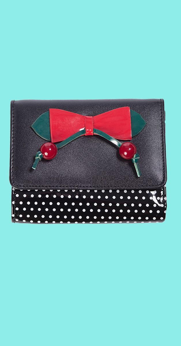 Vintage Accessoires - Marilou Brieftasche - Schwarz