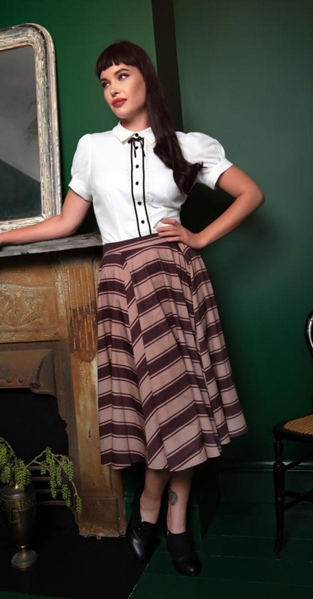 Vintage Stil Bekleidung - 40's Bryonny Bluse