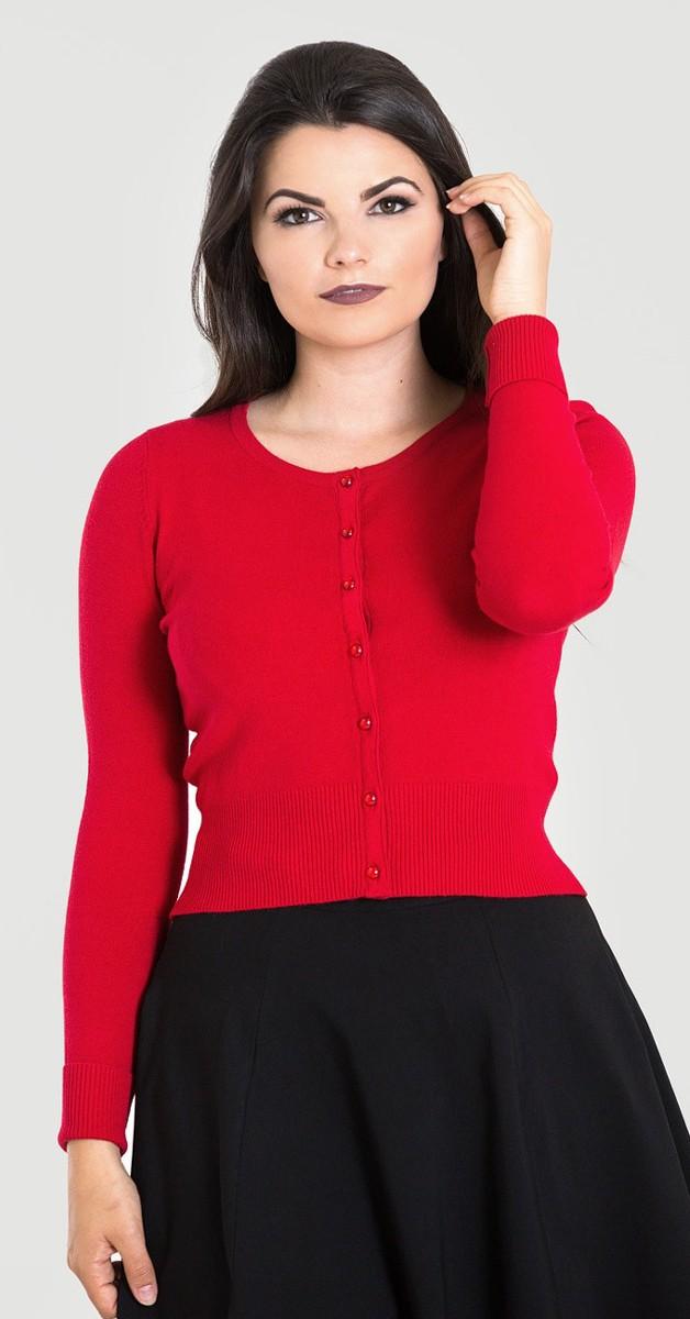 Vintage Stil Weste - Paloma Cardigan - Rot
