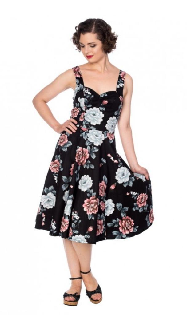 Garden Black Swing-Dress
