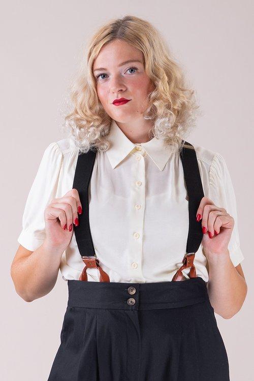 Hosenträger-Damen The sassy suspender black/cognac
