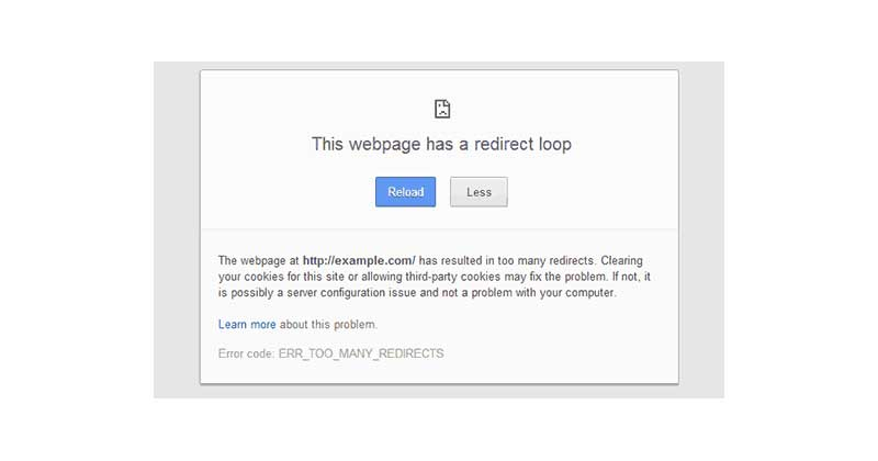 Xử lý lỗi error too many redirects trong WordPress