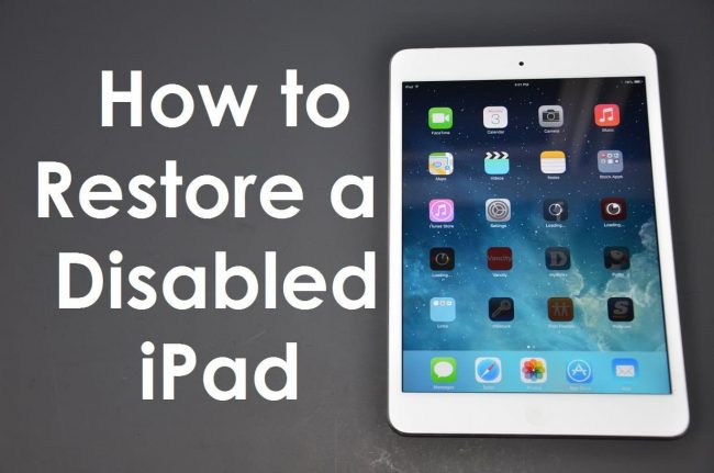image ipad is disabled connect to itunes said the